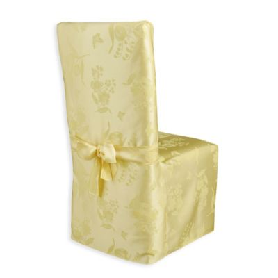 Spring Splendor Dining Room Chair Cover In Butter