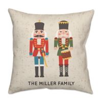 Christmas Soldier Poplin Square Throw Pillow in Red