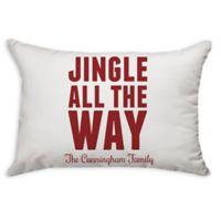 """Jingle All the Way"" Poplin Oblong Throw Pillow"