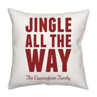 """Jingle All the Way"" Poplin Square Throw Pillow"