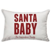 """""""Santa Baby"""" Oblong Throw Pillow in Red"""