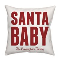 """""""Santa Baby"""" Square Throw Pillow in Red"""