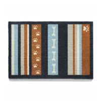 Howler and Scratch 24-Inch x 16-Inch Dog Stripe Washable Mat