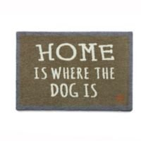 """Howler & Scratch 30-Inch x 20-Inch """"Where Is The Dog"""" Washable Mat in Tan"""