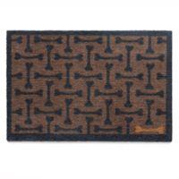 Howler & Scratch 39-Inch x 20-Inch Bones Washable Dog Mat in Brown