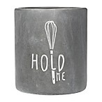 "Home Essentials & Beyond ""Hold Me"" Utensil Crock in Charcoal Grey"