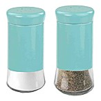 Home Basics Essence Salt and Pepper Shakers in Turquoise (Set of 2)