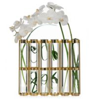 Danya B. 16-Inch Tall 6-Tube Hinged Vases in Gold