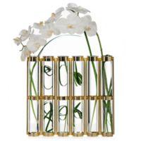 Danya B. 16-Inch Tall 6-Tube Hinged Vases in Gold