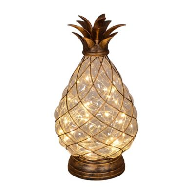 30 Light LED Glass Pineapple