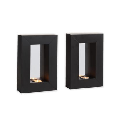 Danya B. Mirror Tealight Candle Sconce with Metal Frame (Set of 2) - Bed Bath & Beyond