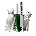 Danya B. Cat Bookend in Brown