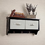 Danya B. Storage Wall Shelf with Canvas Bins and Hooks