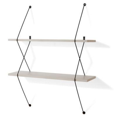 danya b twolevel wallmounted shelf in grey