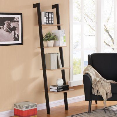 danya b 4level leaning shelf in black
