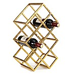 Danya B. 9-Bottle Wine Rack in Sparkling Gold