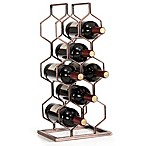 Danya B. 8-Bottle Electroplated Wine Rack in Copper
