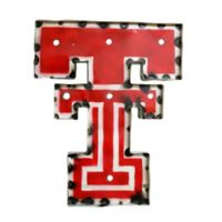 """Texas Tech Red Raiders """"Double T"""" Illuminated Recycled Metal Wall Décor"""