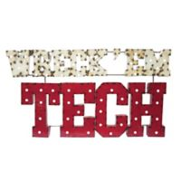 "Texas Tech Red Raiders ""Wreck Em"" Illuminated University Bears Recycled Metal Wall Décor"