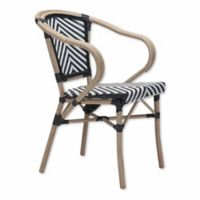 Zuo® Modern Paris Arm Chairs in Black/White (Set of 2)