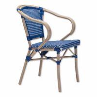 Zuo® Modern Paris Arm Chairs in Navy/White (Set of 2)