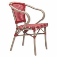 Zuo® Modern Paris Arm Chairs in Red/White (Set of 2)