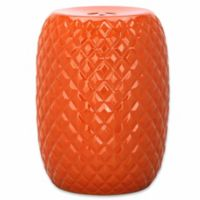 Safavieh Calla Garden Stool in Orange
