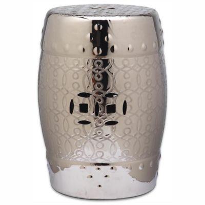 Good Safavieh Lantana Garden Stool In Silver