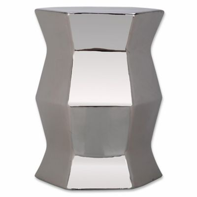 Safavieh Modern Hexagon Garden Stool In Silver