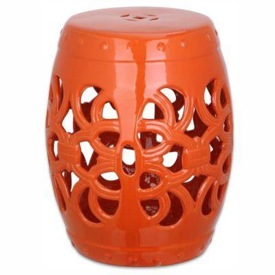Superb Safavieh Imperial Vine Garden Stool In Orange