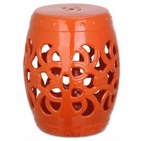 Safavieh Imperial Vine Garden Stool in Orange
