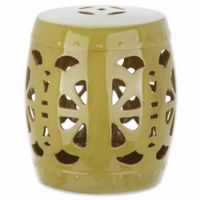 Safavieh Blossom Garden Stool in Green