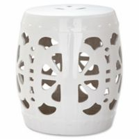 Safavieh Blossom Garden Stool in White