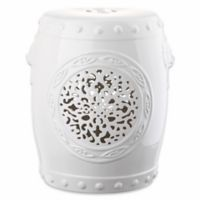 Safavieh Flower Drum 17-Inch Garden Stool in White
