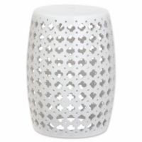 Safavieh Lacey Garden Stool in White