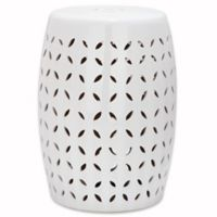 Safavieh Lattice Petal Garden Stool in White