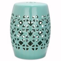 Safavieh Circle Lattice Garden Stool in Robin's Egg Blue