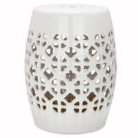Safavieh Circle Lattice Garden Stool in Cream