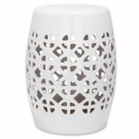 Safavieh Circle Lattice Garden Stool in White