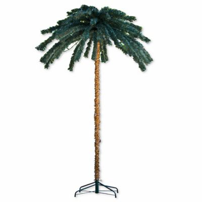 7 foot pre lit palm tree with 300 led lights - Palm Tree Decor