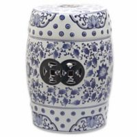 Safavieh Tao Garden Stool in Blue/White