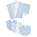 Trend Lab® 8-Piece Blue Sky Bib and Burp Cloth Set in Blue