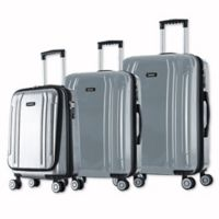 InUSA SouthWorld 3-Piece Spinner Suitcase Set in Silver