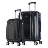 InUSA SouthWorld 2-Piece Spinner Luggage Set with Carry-On and 27-Inch Suitcase in Dark Grey