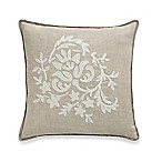 Richfield Macramé French Flower Square Throw Pillow in Natural