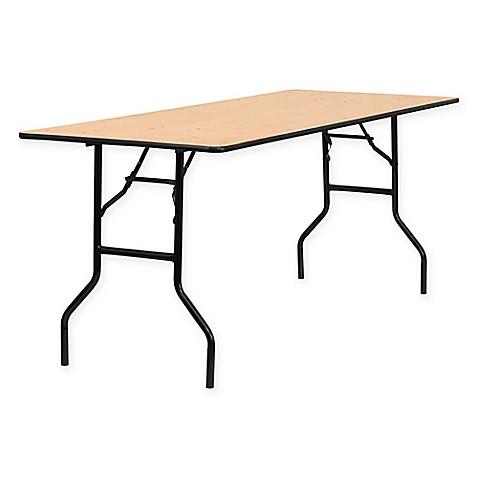 Buy Flash Furniture 6 Foot Rectangular Wood Folding