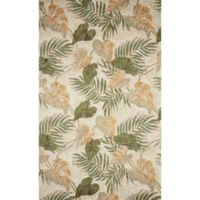 Liora Manne 3-Foot 6-Inch x 5-Foot 6-Inch Ravella Tropical Leaf Indoor/Outdoor Rug