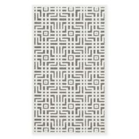 Safavieh Paradise 4-Foot x 6-Foot Grid Area Rug in Ivory/Dark Grey