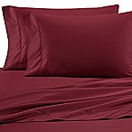 Wamsutta® 525-Thread-Count PimaCott® Wrinkle Resistant Queen Fitted Sheet in Burgundy