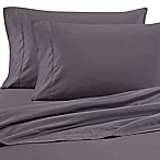 Wamsutta® 525-Thread-Count PimaCott® Wrinkle Resistant Queen Fitted Sheet in Charcoal